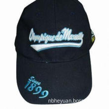Baseball Cap, Made of Cotton, Customized Colors, Embroidery and Printings are Accepted